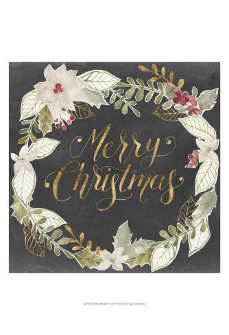 Gilded Christmas I Art Print