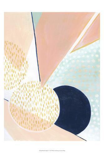 Peach Eclipse I Art Print