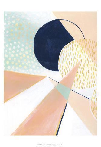 Peach Eclipse II Art Print