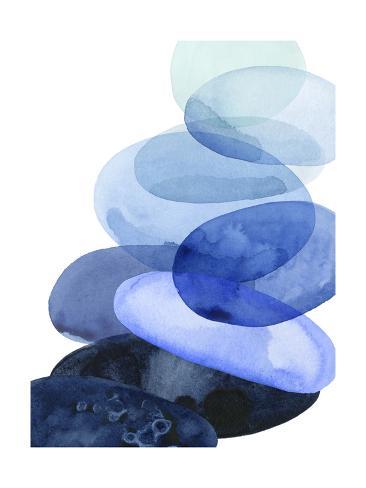 River Worn Pebbles I Art Print