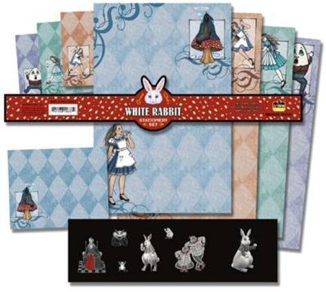 Grace Slick White Rabbit Stationery Stationary