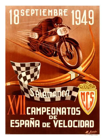 Salamanca Moto Giclee Print