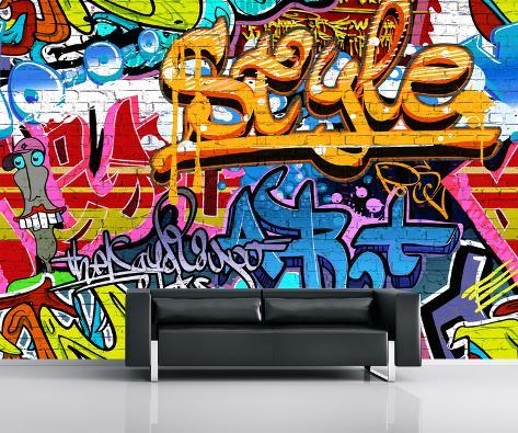 Graffiti Wall Mural Wallpaper Mural - by AllPosters.ie