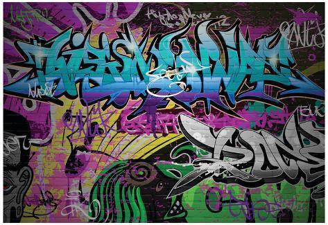 Graffiti Wall Urban Art & Graffiti Wall Urban Art Photo - AllPosters.ca