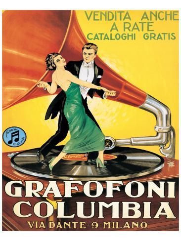 Grafofoni Columbia, Milano Premium Giclee Print