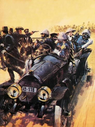 The Assassination of Archduke Franz Ferdinand. Giclee Print