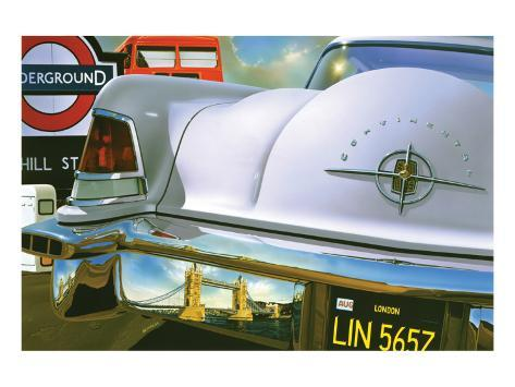 Lincoln Continental '56 in London Premium Giclee Print
