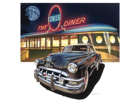 Pontiac Chieftain '50 at The Circle Diner Premium Giclee Print