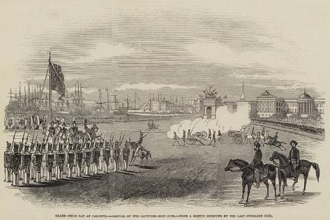 Grand Field Day at Calcutta, Arrival of the Captured Sikh Guns Giclee Print