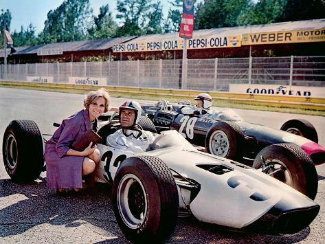 Grand Prix, Eva Marie Saint, James Garner, 1966. Photo
