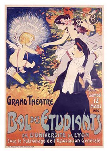 Grand Theatre, Bol des Etudiants Giclee Print