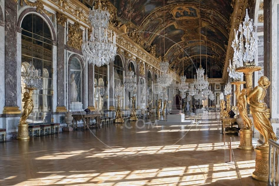 Grande Galerie Or Galerie Des Glaces The Hall Of Mirrors In Palace