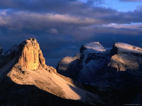 Punte Dei Scarperi on the Fiscaline Loop Walk, Dolomiti Di Sesto Natural Park, Italy Photographic Print