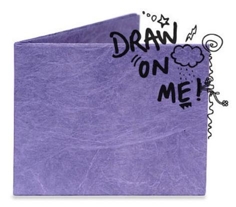 Grape Purple Do It Yourself Tyvek Mighty Wallet Wallet