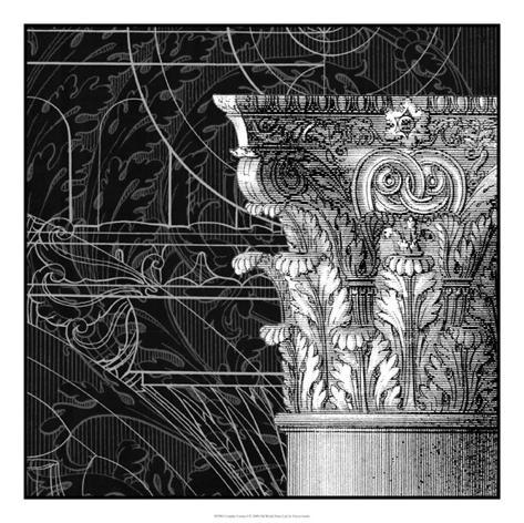 Graphic Cornice I Giclee Print