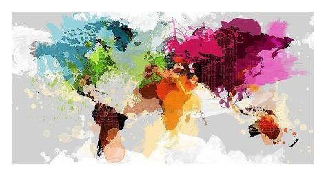 Colourful world map poster other home decor gumtree australia colourful world map posters by graphinc allposterscouk colourful world map poster gumiabroncs Gallery