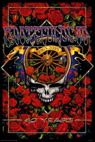 Grateful Dead 40th Anniversary Poster