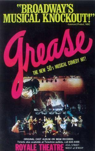 Grease - Broadway Poster , 1972 Masterprint
