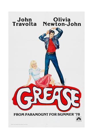 Grease, John Travolta, Olivia Newton-John, 1978, © Paramount Pictures/courtesy Everett Collection Art Print
