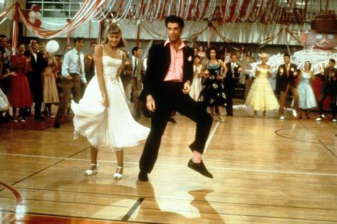 Grease, Olivia Newton-John,  John Travolta, 1978 Foto