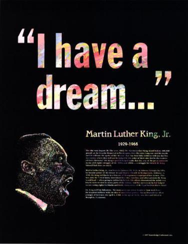 Great Black Americans - Martin Luther King Jr. Art Print