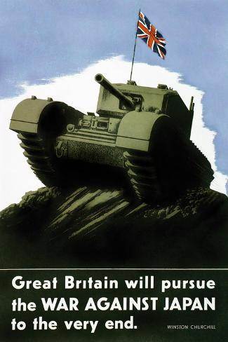 Great Britain Pursues the War with Japan Wall Decal