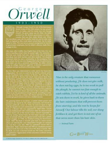 a biography of english writer george orwell A short biography of george orwell, born eric arthur blair, the famous writer, author and poet who, with both 'animal farm' and 'nineteen eighty four', gave us a metric buttload of essay.