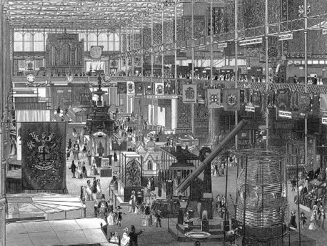 Great Exhibition in the Crystal Palace, Hyde Park, London, 1851 Giclee Print