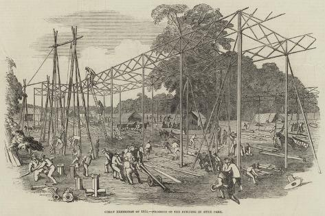 Great Exhibition of 1851, Progress of the Building in Hyde Park Giclee Print
