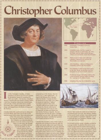 Great Explorers - Christopher Columbus Art Print