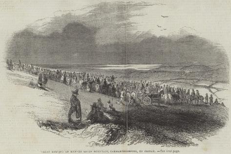 Great Meeting on Mynydd Seine Mountain, Carmarthenshire, on Friday Giclee Print