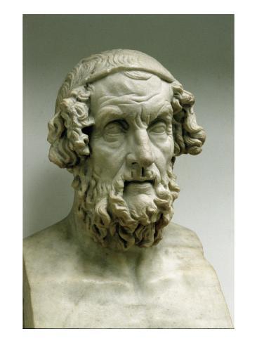Portrait Bust of Homer Giclee Print