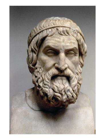 Portrait Bust of Sophocles Giclée-vedos