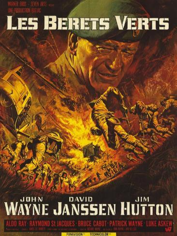 Green Berets, French Movie Poster, 1968 Art Print