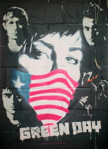 Green Day - Collage Fabric Poster