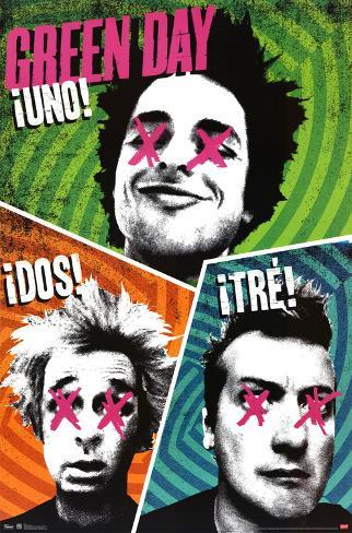 Green Day - Uno Dos Tre Poster