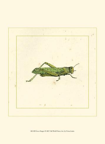 Green Hopper Art Print