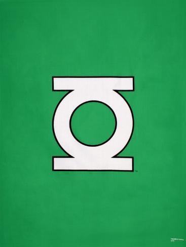 green lantern logo posters na. Black Bedroom Furniture Sets. Home Design Ideas