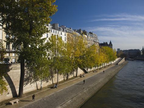 Buildings at the Waterfront, Quai Des Orfevres, Ile De La Cite, Seine River, Paris, Ile-De-Franc... Photographic Print