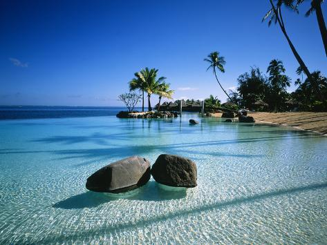 Resort Tahiti French Polynesia Photographic Print
