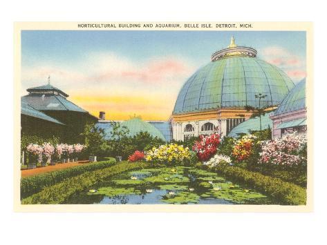 Greenhouse, Belle Isle, Detroit, Michigan Art Print