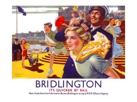 Bridlington: Its Quicker by Rail 1923-1947 Giclee Print