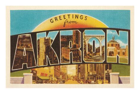 Greetings from Akron, Ohio Art Print
