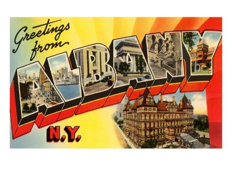 Greetings from Albany, New York Art Print