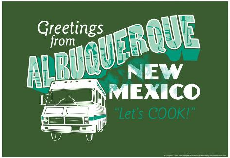 Greetings From Albuquerque New Mexico Snorg Tees Poster Poster