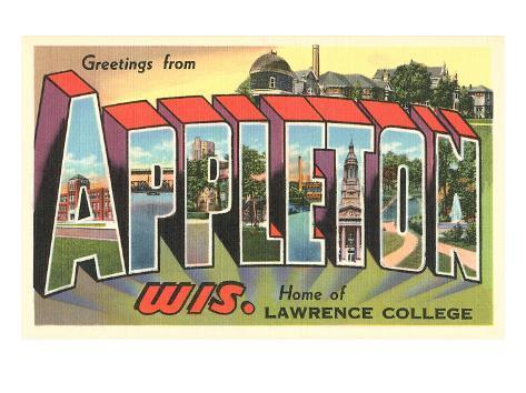 Greetings from Appleton, Wisconsin Art Print