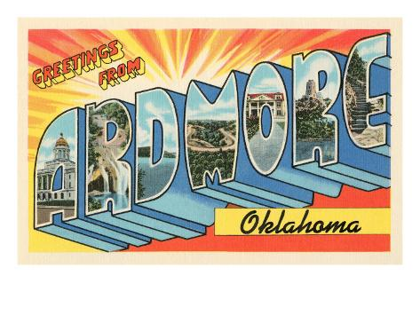 Greetings from Ardmore, Oklahoma Stretched Canvas Print