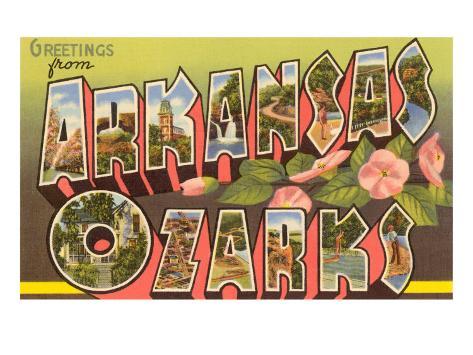 Greetings from Arkansas Ozarks Art Print