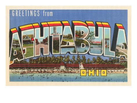 Greetings from Ashtabula, Ohio Art Print
