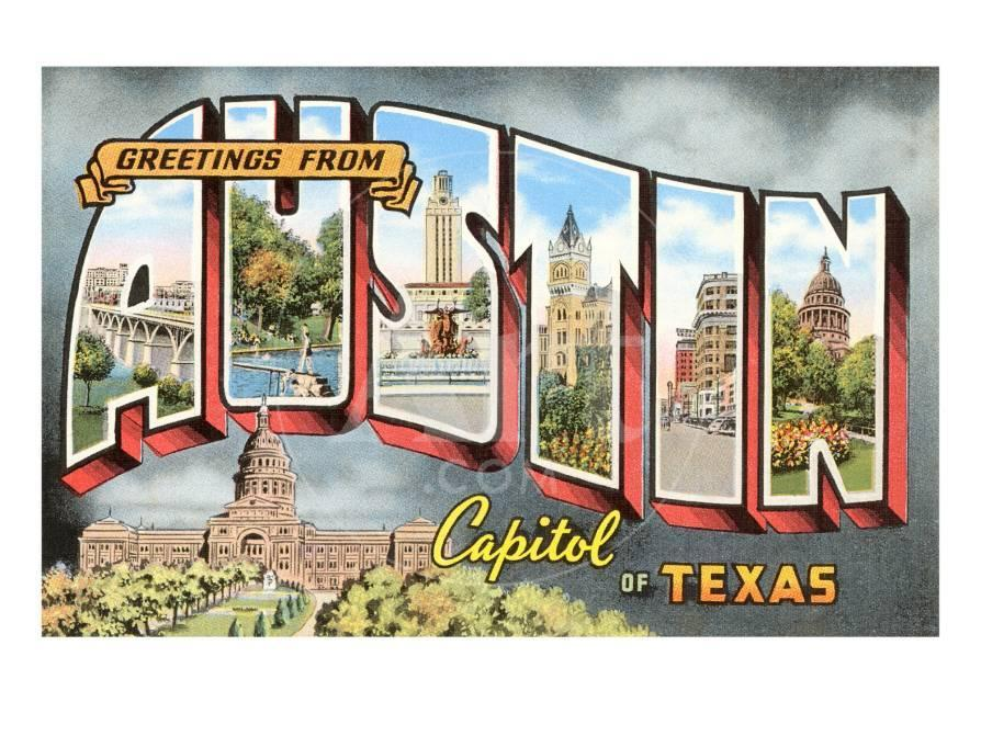 Greetings from austin texas prints at allposters m4hsunfo